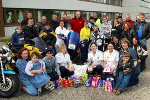 The first Easter Egg Run organised by Hillbillies MCC in 2003 with Fugitives MCC and Loudoun MCC.